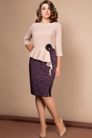 Модель 2575 Бежевый/Фиолетовый Эледи