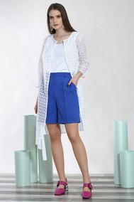 Модель 1435 белый с голубыми шортами Alani
