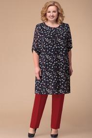 Модель 970 черно-красный+цветы Svetlana Style