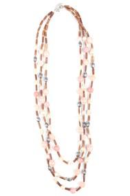 Модель Бусы pf 95-7033 розовый Fashion Jewelry