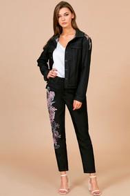 Модель 1700 черный с вышивкой бордо EOLA