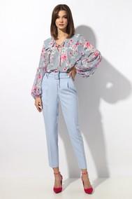 Модель 1245-1 с серо-голубой блузкой МиА Мода