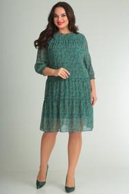 Модель 499 зеленый+цветы SVT-fashion