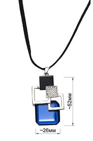 Модель Подвеска 93010 никель+синий Fashion Jewelry