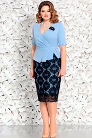 Модель 4580-3 голубой+темно-синий Mira Fashion
