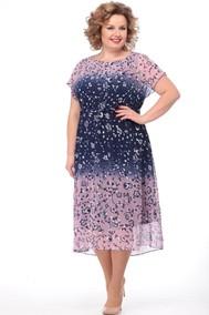 Модель 1455 розовый+темно-синий Кэтисбел