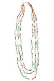 Модель Бусы pf 95-7033 бирюза Fashion Jewelry