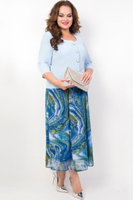 Модель 18-19 оттенки голубого TricoTex Style