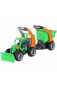 48400 ГрипТрак, трактор снегоуборочный с полуприцепом