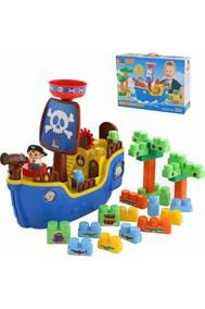 Пиратский корабль + конструктор (30 элементов)