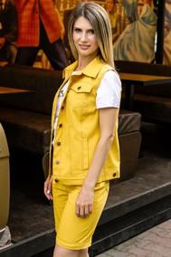 Модель 261 Горчичный джинс Marika