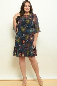 Модель 1566 Темно-синий +цветы Lady Style Classic