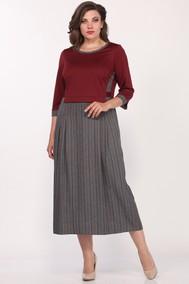 Модель 1681/4 Бордовый с серым Lady Style Classic