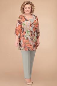 Модель 1238 лен+крупные_цветы Svetlana Style