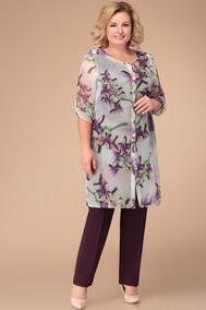 Модель 1264 бордо+цветы Svetlana Style