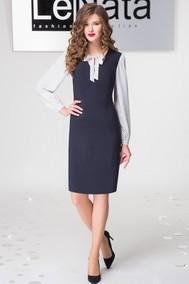 21794 темно-синий+белая блузка LeNata