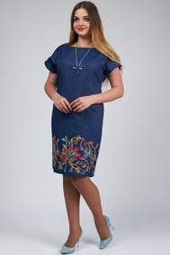 Модель 455 темно-синий+цветы SVT-fashion