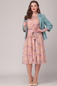 Модель 2062 Розовое платье, голубой пиджак Verita