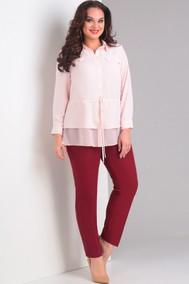 Модель 703 бордо, розовый Милора-стиль