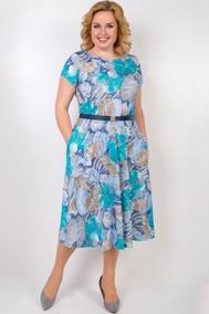 Модель 14-19 голубые цветы TricoTex Style