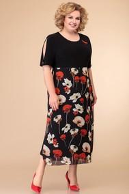 Модель 1425 черный+цветы Svetlana Style