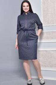 Модель 1373 темно-синий в полоску Lady Style Classic