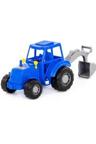 Трактор Мастер (синий) с лопатой