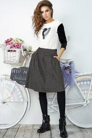 Модель 2864 белый с черным Niv Niv Fashion
