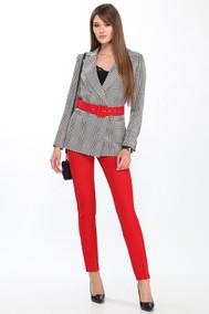 Модель 2637 серый+красный DOGGI