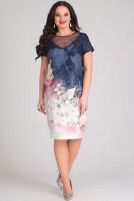 Модель 466 темно-синий+цветы SVT-fashion
