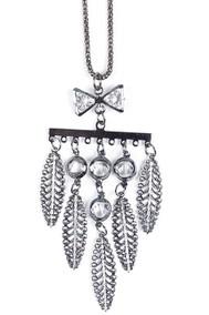 Модель Подвеска перья черненое серебро Fashion Jewelry