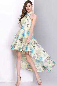 Модель 2607 бледно-салатовый с цветами Juanta