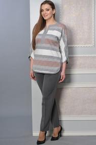Модель 1392 серый+белый+красный Lady Style Classic