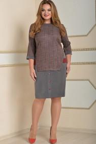 Модель 1639 серый+красная полоска Lady Style Classic