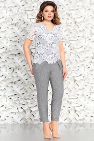 Модель 4412-3 бело-серый Mira Fashion