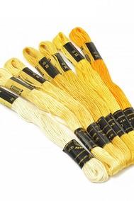 Нитки мулине  Цветик-семицветик  10 м. арт. ПНК набор 7 мотков №1- желтый лепесток