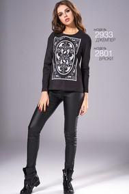 Модель 2933 черный с белым Niv Niv Fashion