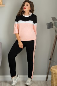 Модель 713 розовый +черный+белый Галеан Cтиль