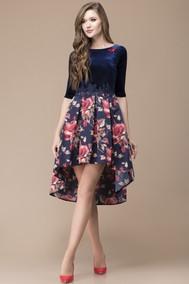Модель 1141 темно-синий+цветы Svetlana Style