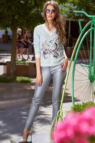 Модель 2890 бело-голубой Niv Niv Fashion