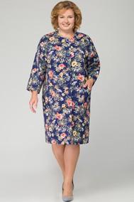 Модель 1092 темно-синий+цветы Svetlana Style