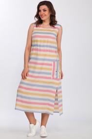 Модель 1968/1 Сине-розово-желтая полоска Lady Style Classic