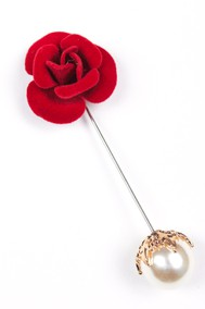 Модель Брошь 1956 красный Fashion Jewelry