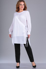 Модель 212 белый верх+черные брюки Foxy fox