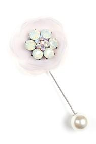 Модель Брошь 18011 розовый Fashion Jewelry