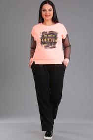 Модель 1018 светло-розовый+чёрный Ива