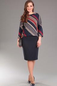 Модель 1181 темно-синий с красным Lady Style Classic