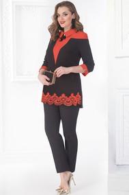 Модель 687В черный+красный Лилиана