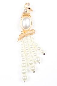 Модель Брошь 117012 золото+белый Fashion Jewelry