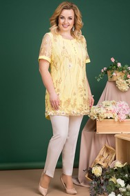 Модель 715В желтый+молочный Лилиана